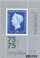 Nederland NL 1101  1976 Int. Postzegeltentoonstelling Amphilex '77 75+75 cent  Gestempeld