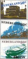 Nederland NL 1204#1206  1980 Verkeer en vervoer  cent  Gestempeld