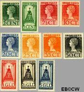 Nederland NL 121#131  1923 Koningin Wilhelmina- Regeringsjubileum  cent  Gestempeld