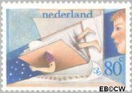 Nederland NL 1213  1980 Kind en boeken 80+30 cent  Postfris