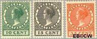 Nederland NL 136#138  1924 Koningin Wilhelmina- Type 'Veth'   cent  Gestempeld