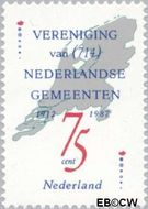 Nederland NL 1385  1987 Vereniging Ned. Gemeenten 75 cent  Gestempeld
