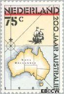 Nederland NL 1411  1988 Australië 75 cent  Gestempeld