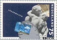 Nederland NL 1432  1989 Spoorwegen 75 cent  Postfris