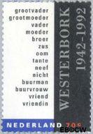 Nederland NL 1531  1992 Kamp Westerbork 70 cent  Gestempeld