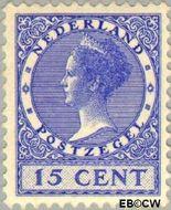 Nederland NL 155  1924 Koningin Wilhelmina- Type 'Veth' 15 cent  Gestempeld