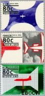 Nederland NL 1605#1607  1994 Luchtvaartjubilea  cent  Gestempeld