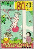 Nederland NL 1625  1994 Spelende kinderen 80+40 cent  Gestempeld