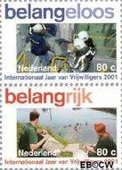 Nederland NL 1968a#1968b  2001 Vrijwilligerswerk  cent  Postfris