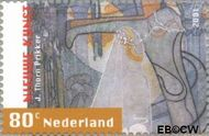 Nederland NL 1981  2001 Nieuwe kunst 80 cent  Gestempeld