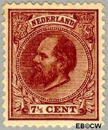 Nederland NL 20  1888 Koning Willem III- 5e emissie 7½ cent  Gestempeld