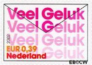 Nederland NL 2053  2002 Felicitatie- zegels 39 cent  Gestempeld