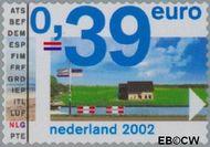 Nederland NL 2062  2002 Euro-zegel 39 cent  Gestempeld