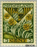 Nederland NL 209  1927 Provinciewapens 5+3 cent  Gestempeld