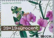 Nederland NL 2165  2003 Aquarellen van bloemen 39+19 cent  Gestempeld