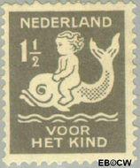 Nederland NL 225  1929 Kind op dolfijn 1½+1½ cent  Gestempeld