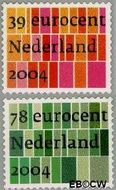 Nederland NL 2250#2251  2004 Zakelijke postzegels  cent  Gestempeld