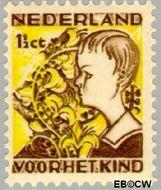 Nederland NL 248  1932 Kinderen en bloemen 1½+1½ cent  Gestempeld