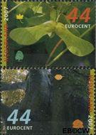 Nederland NL 2520#2521  2007 Bomen in de herfst  cent  Gestempeld