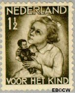 Nederland NL 270  1934 Kind met pop 1½+1½ cent  Gestempeld