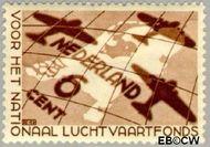 Nederland NL 278  1935 Nationaal Luchtvaartfonds 6+4 cent  Gestempeld