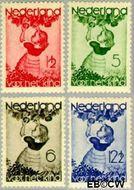 Nederland NL 279#282  1935 Appelplukkend meisje   cent  Postfris