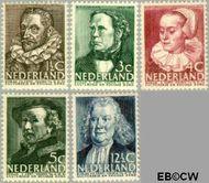 Nederland NL 305#309  1938 Bekende personen   cent  Gestempeld