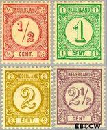 Nederland NL 30b#33a  1894 Drukwerkzegels- cijfer  cent  Gestempeld