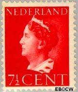 Nederland NL 334  1940 Wilhelmina- Type 'Konijnenburg' 7½ cent  Gestempeld