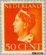 Nederland NL 344  1946 Wilhelmina- Type 'Konijnenburg' 50 cent  Gestempeld