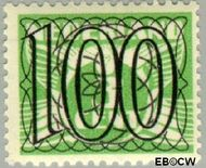 Nederland NL 371  1940 Cijfer type 'Guilloche' of ' tralie' 100 cent  Gestempeld