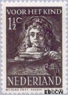 Nederland NL 397  1941 Schilderij Rembrandt 1½+1½ cent  Gestempeld