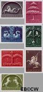 Nederland NL 405#411  1943 Germaanse symbolen   cent  Gestempeld