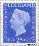 Nederland NL 483  1947 Koningin Wilhelmina- Type 'Hartz' 25 cent  Gestempeld