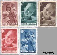 Nederland NL 495#499  1947 Levensstadia kind   cent  Gestempeld