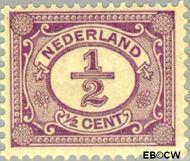 Nederland NL 50  1899 Cijfer type 'Vürtheim' ½ cent  Gestempeld