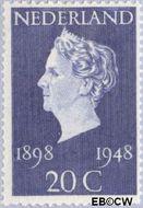 Nederland NL 505  1948 Koningin Wilhelmina- Regeringsjubileum 20 cent  Postfris