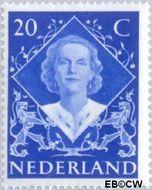 Nederland NL 507  1948 Koningin Juliana- Inhuldiging 20 cent  Gestempeld