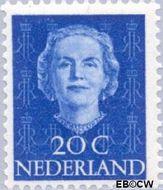 Nederland NL 524  1949 Koningin Juliana- Type 'En Face' 20 cent  Gestempeld