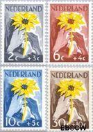 Nederland NL 538#541  1949 Zonnebloem   cent  Gestempeld
