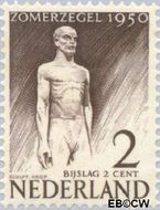 Nederland NL 550  1950 Wederopbouw 2+2 cent  Gestempeld