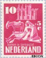 Nederland NL 559  1950 Kerken in Oorlogstijd 10+5 cent  Gestempeld