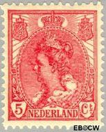 Nederland NL 60  1899 Koningin Wilhelmina- 'Bontkraag' 5 cent  Postfris