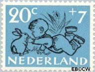 Nederland NL 600  1952 Kind en dier 20+7 cent  Gestempeld