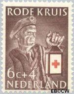 Nederland NL 608  1953 Rode Kruis 6+4 cent  Gestempeld