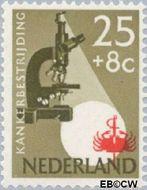 Nederland NL 665  1955 Kankerbestrijding 25+8 cent  Gestempeld