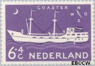 Nederland NL 689  1957 Schepen 6+4 cent  Gestempeld