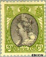 Nederland NL 69  1908 Koningin Wilhelmina- 'Bontkraag' 20 cent  Gestempeld