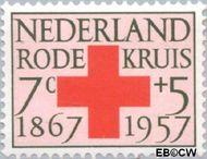 Nederland NL 697  1957 Rode Kruis 7+5 cent  Gestempeld