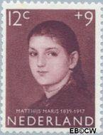 Nederland NL 705  1957 Meisjesportretten 12+9 cent  Gestempeld